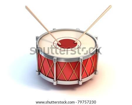 bass drum instrument 3d illustration - stock photo