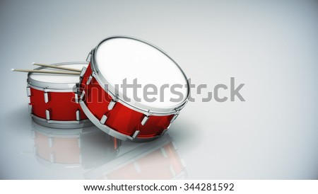 Bass drum isolated  - stock photo
