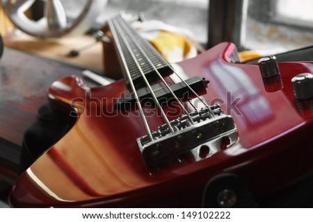 bass guitar - stock photo