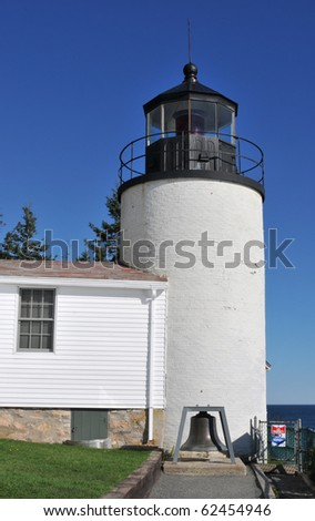 Bass Harbor Head lighthouse on Mount Desert Island, Maine, part of Acadia National Park