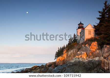 Bass Harbor Lighthouse, Acadia National Park, Maine, USA - stock photo