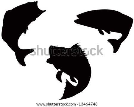 Bass silhouette - stock photo