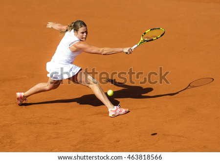 BASTAD, SWEDEN - JULY 20 : Karin Knapp at the 2016 Ericsson Open WTA International tennis tournament