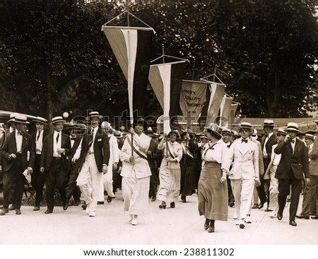 Bastille Day spells prison for sixteen suffragettes who picketed the White House. July 19, 1917 - stock photo