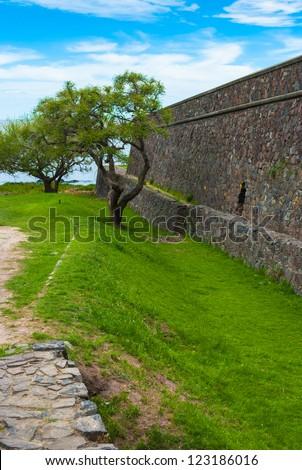 Bastion de San Miguel in Colonia del Sacramento, Uruguay - stock photo