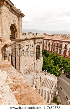 Bastion of Saint Remy Cagliari - stock photo