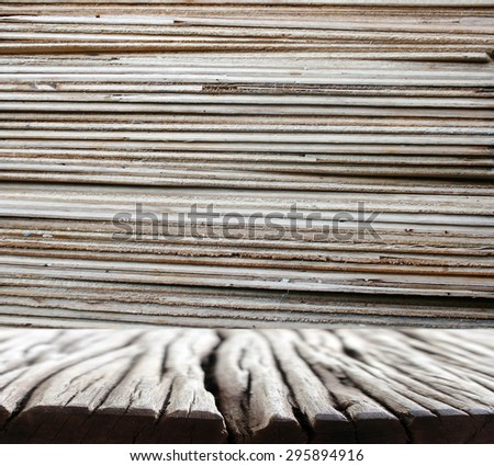 Batch of plywood - stock photo