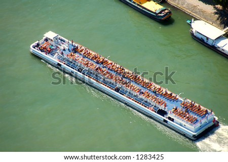 Bateaux - mouches in the Sena river - stock photo
