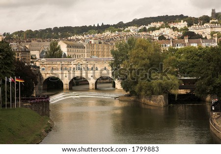 bath city - Pulteney Bridge view