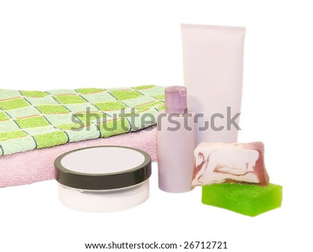 bath mix - stock photo