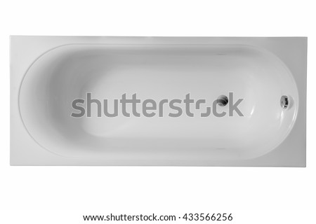 Bath on a white background.
