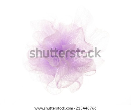 Bath puff on white background - stock photo