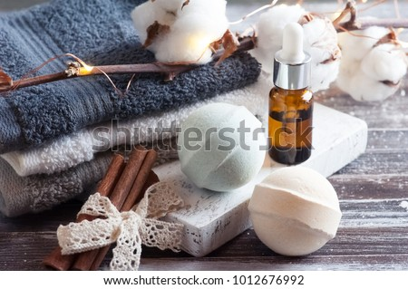 Bath Spa Accessories On Rustic Wooden Stock Photo 1012676992 ...