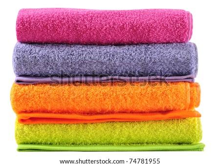 Bath towels. - stock photo