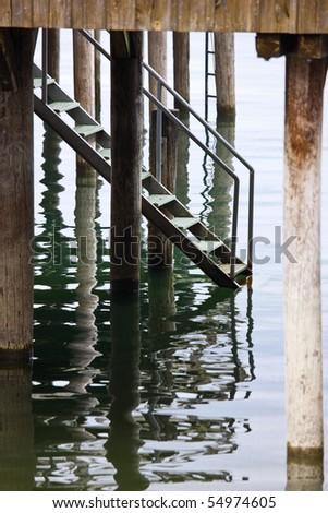 Bathhouse Bregenz Lake shore - stock photo