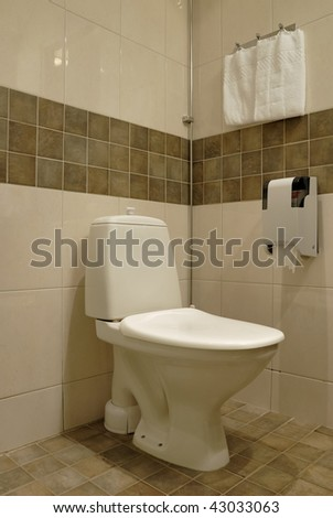 Bathhroom in newly converted house - stock photo
