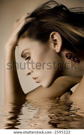Bathing Beauty - stock photo
