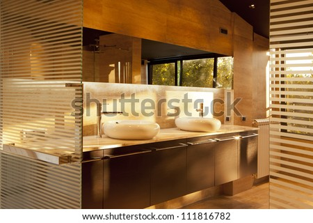 Bathroom and wellness interior - stock photo