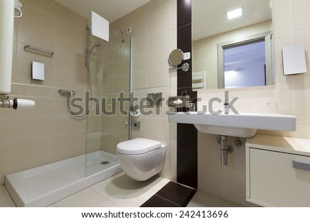 bathroom apartment interior - stock photo