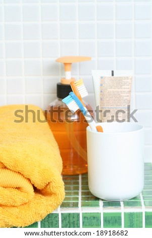 bathroom - everything you need to have clean teeth
