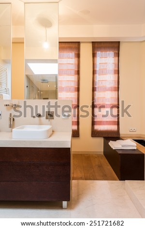 Bathroom in modern style in apartment