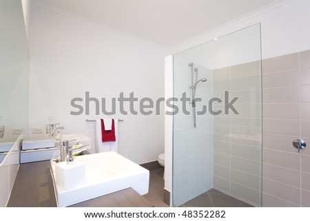 bathroom in modern townhouse