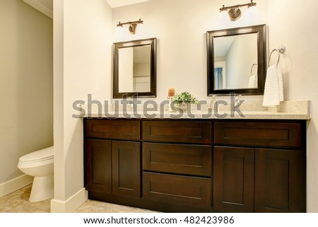 bathroom vanity cabinets without sink stock photo interior white tones black cabinet northwest 36 inches 30 inch