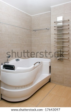 bathroom modern interior - stock photo