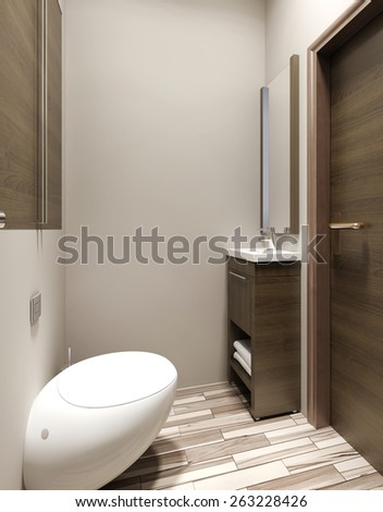 Bathroom modern style, 3D render