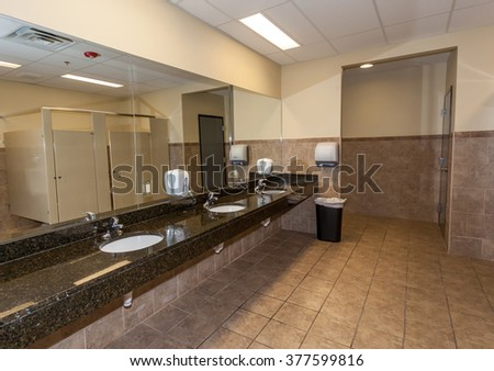 Bathroom of Gym Locker Room