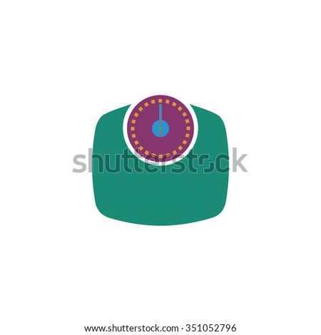 Bathroom scale. Colorful pictogram symbol on white background. Simple icon - stock photo