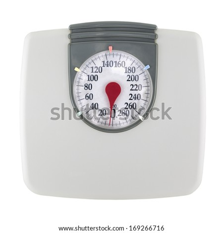 Bathroom Scale isolated on a white background. - stock photo