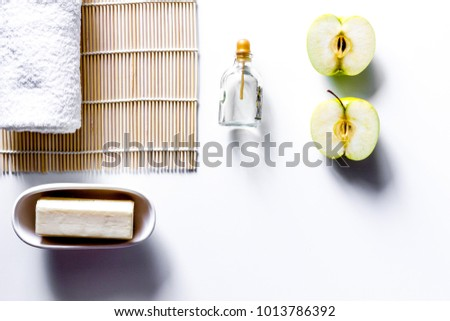 Bathroom Stuff Body Hands Care Cleaning Stock Photo Royalty Free - Cleaning stuff for bathroom