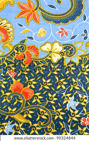 Batik design in sea and ocean concept. - stock photo