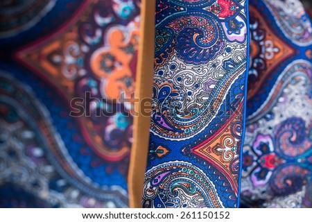 Batik Pattern / Middle Batik Pattern / Ornaments of Batik / Middle Sharp Batik / Colorful Batik / Malaysian Batik /  - stock photo