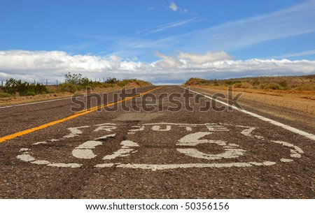 Battered portion of California's Route 66.