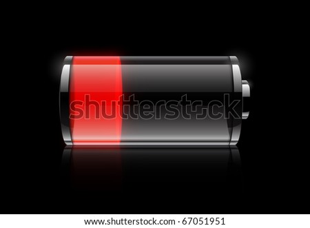 Batterie low - stock photo