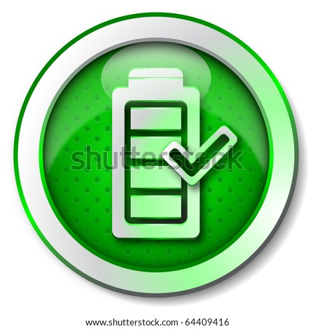 Battery charge icon - stock photo