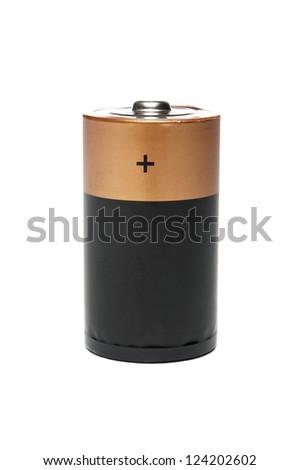 Battery closeup - stock photo