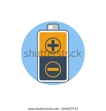battery icon - stock photo