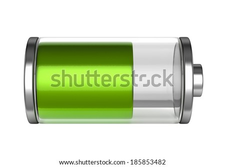 Battery icon isolated on white background