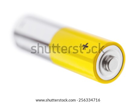 Battery on a white background - stock photo