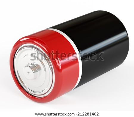 Battery on a white background it is isolated - stock photo