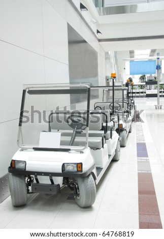 Battery operated cars in Dubai Airport