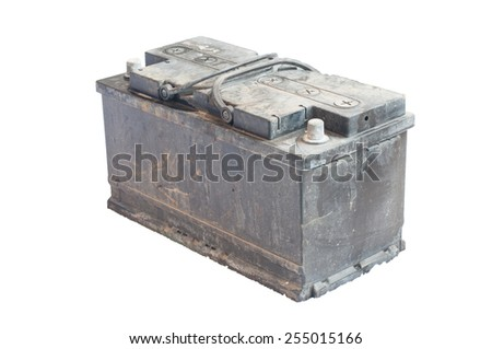 battery used car on isolate white background  - stock photo