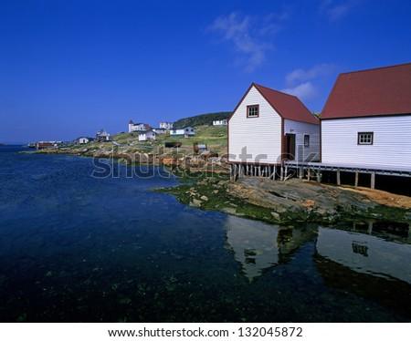 Battle Harbour - historic fishing village in Labrador, Newfoundland, Canada - stock photo