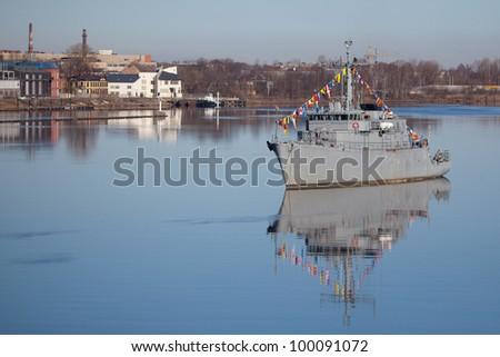 battle ship - stock photo