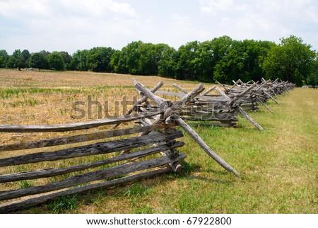 battlefield fences - stock photo