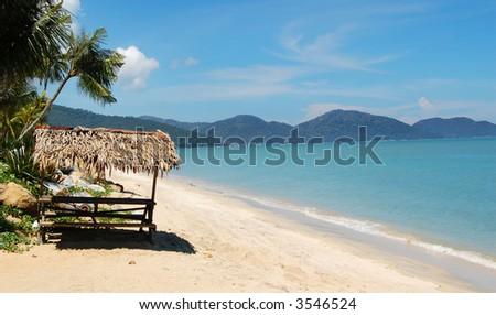 Batu Ferringhi beach, Penang, Malaysia - stock photo
