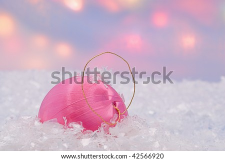 Bauble. The date of Christmas was chosen to correspond to the date of the winter solstice, Newton wrote. - stock photo